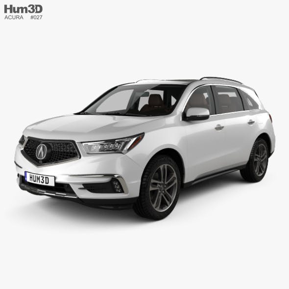 Acura MDX Sport Hybrid with HQ interior 2017 - 3DOcean Item for Sale