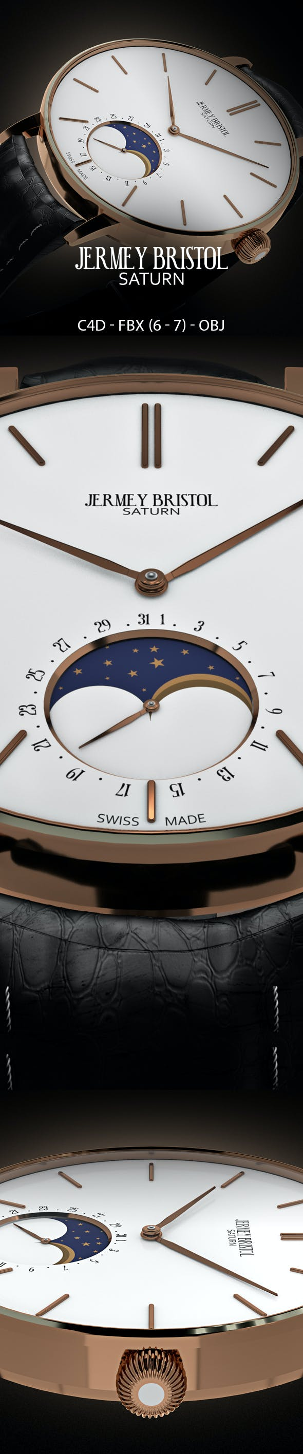 Jeremy Bristol Wrist Watch - 3DOcean Item for Sale