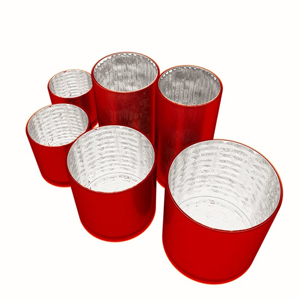 Red Glass Vases - 3DOcean Item for Sale