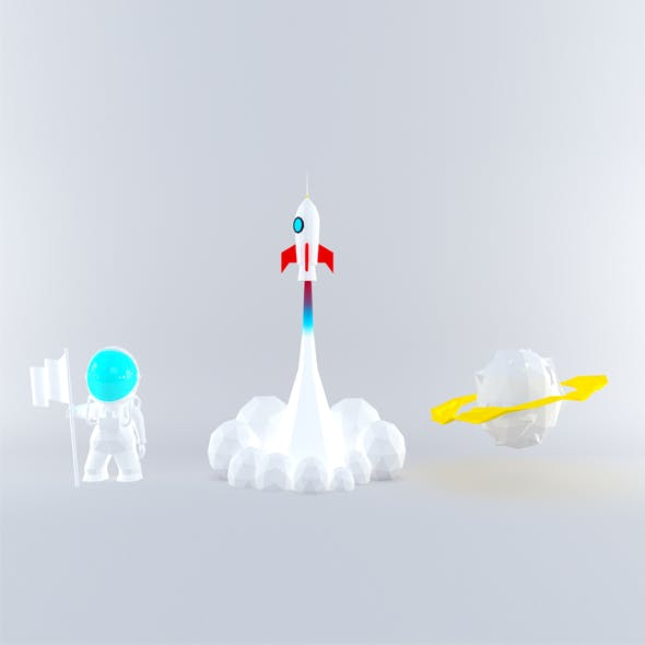 Low poly Space pack - 3DOcean Item for Sale