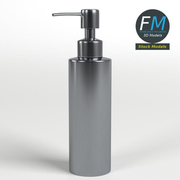 Stainless steel pump dispenser for hand soap