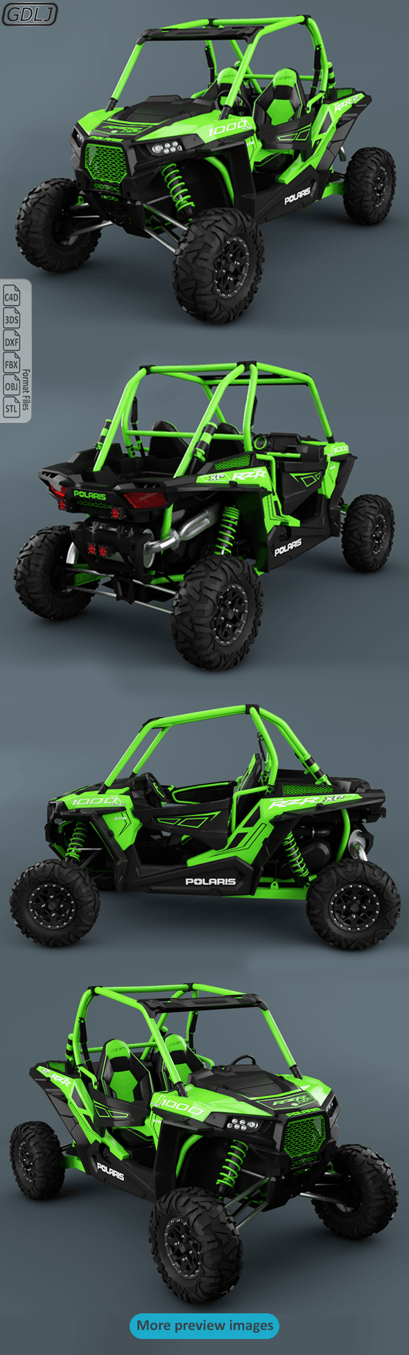 Polaris Ranger RZR 1000 - 3DOcean Item for Sale