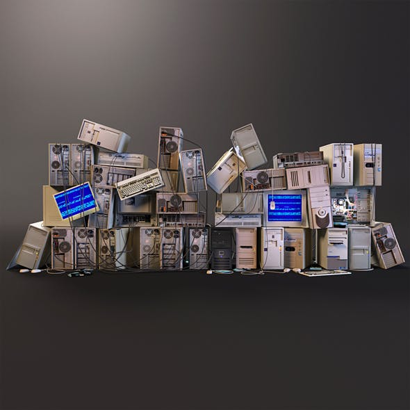Computer dump Low-poly