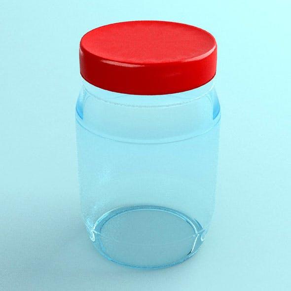 Transparent jar - 3DOcean Item for Sale