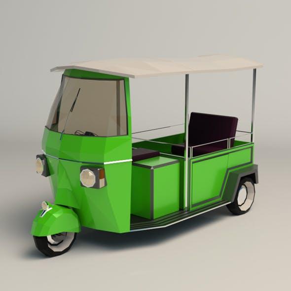 Low Poly Auto Rickshaw