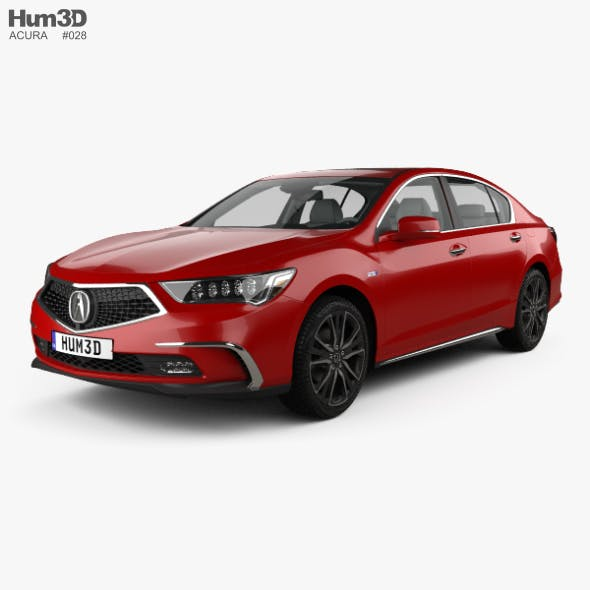 Acura RLX Sport Hybrid SH-AWD with HQ interior 2017 - 3DOcean Item for Sale
