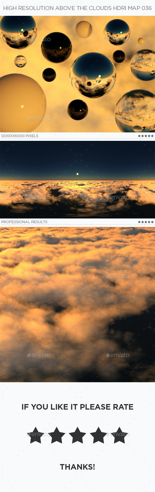 High Resolution Above The Clouds HDRi Map 036 - 3DOcean Item for Sale
