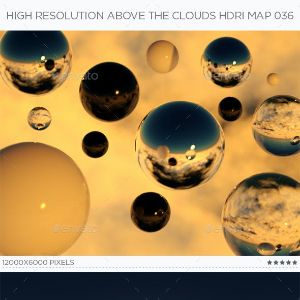 High Resolution Above The Clouds HDRi Map 036
