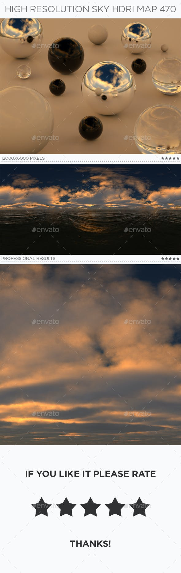 High Resolution Sky HDRi Map 470 - 3DOcean Item for Sale