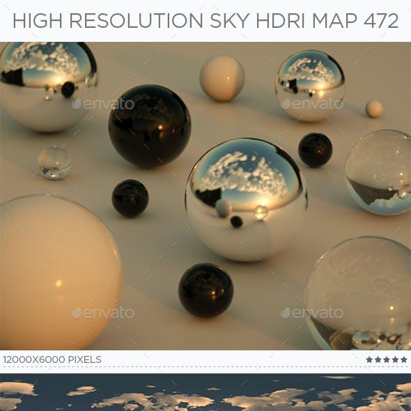 High Resolution Sky HDRi Map 472