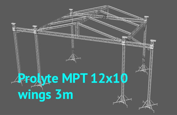 Prolyte MPT 12x10 roof with side wings 3m - 3DOcean Item for Sale