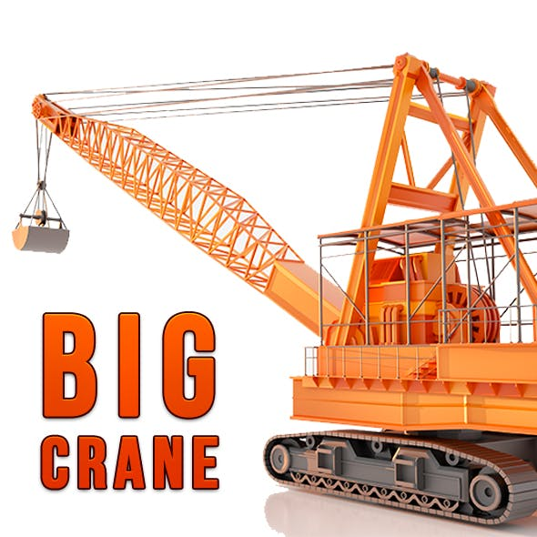 Big industrial Crane 3d