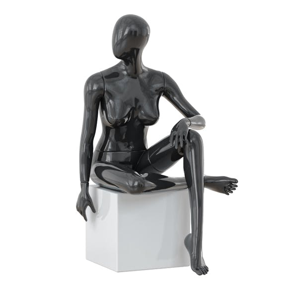 Seated Abstract Female Mannequin 12