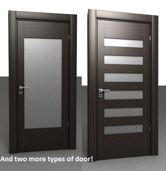 4 Doors Set - 3DOcean Item for Sale