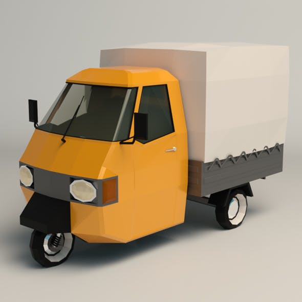 Low Poly Three Wheeled Truck