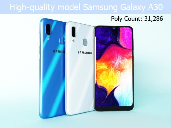 Samsung Galaxy A30 - 3DOcean Item for Sale