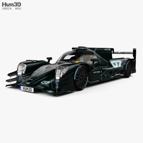 Oreca 07 LMP2 with HQ interior 2017