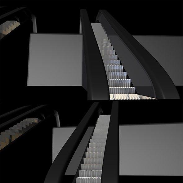 Two escalators