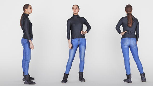 Woman casual 01 - 3DOcean Item for Sale