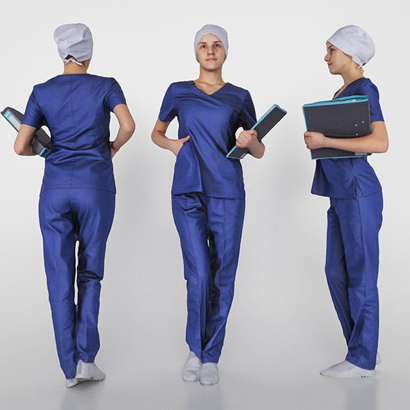 Surgical nurse 02 - 3DOcean Item for Sale