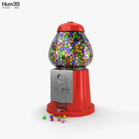 Gumball Machine - 3DOcean Item for Sale