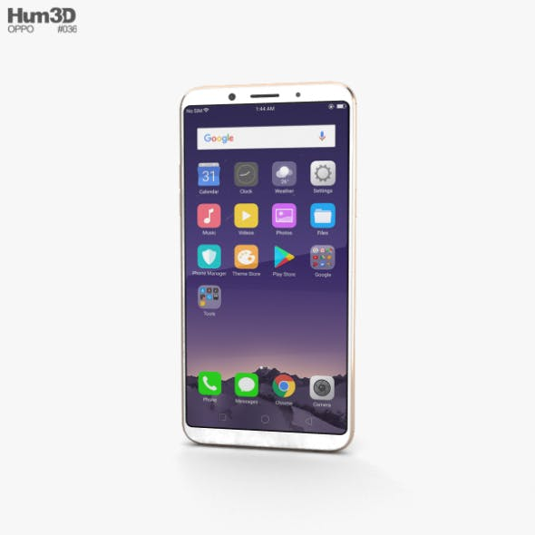 Oppo F5 Gold - 3DOcean Item for Sale