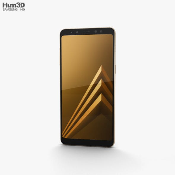 Samsung Galaxy A8 (2018) Gold - 3DOcean Item for Sale