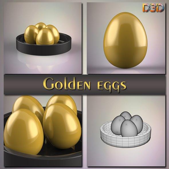 Golden eggs - 3DOcean Item for Sale