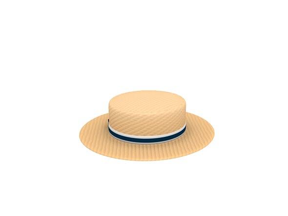 Boater Hat - 3DOcean Item for Sale