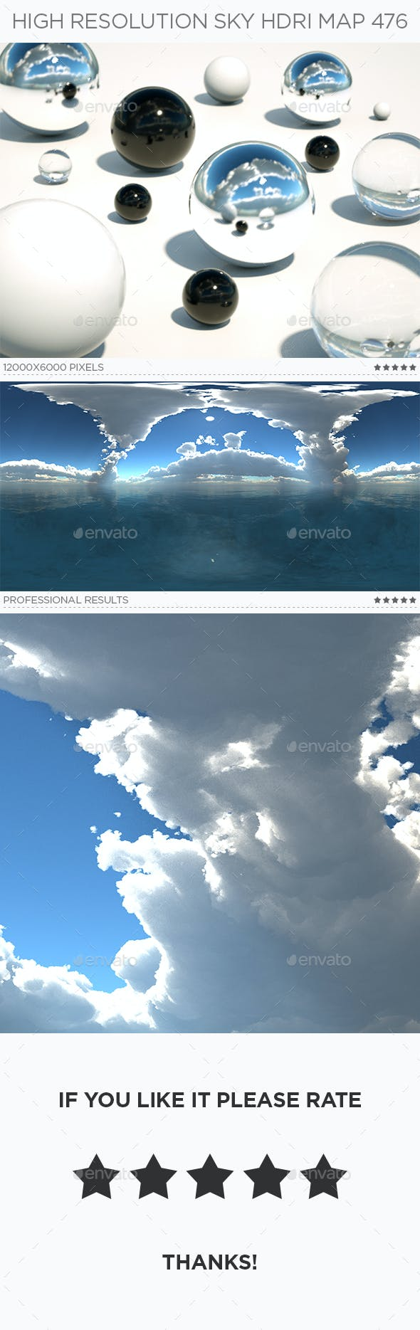 High Resolution Sky HDRi Map 476 - 3DOcean Item for Sale