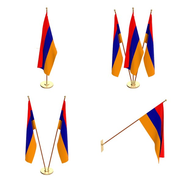 Armenia Flag Pack - 3DOcean Item for Sale