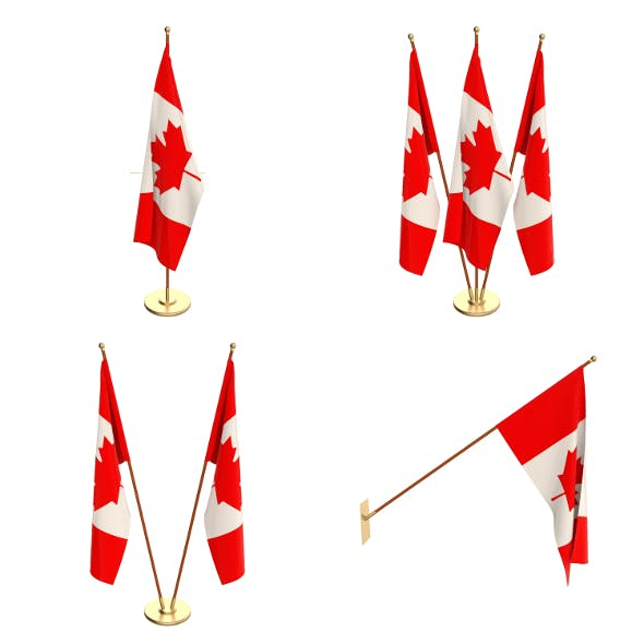 Canada Flag Pack - 3DOcean Item for Sale