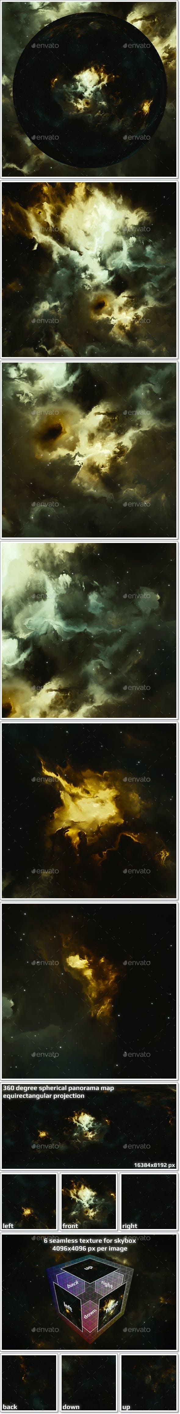 Nebula Space Environment HDRI Map 025 - 3DOcean Item for Sale