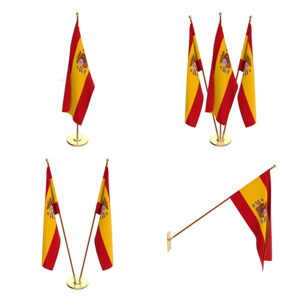 Spain Flag Pack - 3DOcean Item for Sale