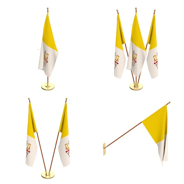 Vatican Flag Pack - 3DOcean Item for Sale