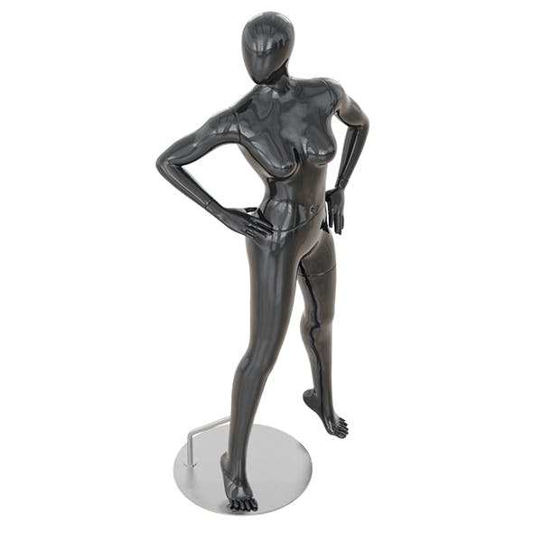 Abstract female mannequin 14 - 3DOcean Item for Sale