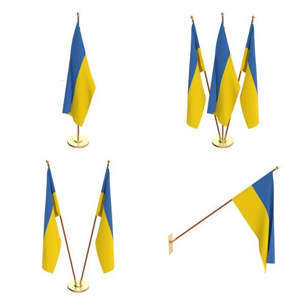 Ukraine Flag Pack - 3DOcean Item for Sale