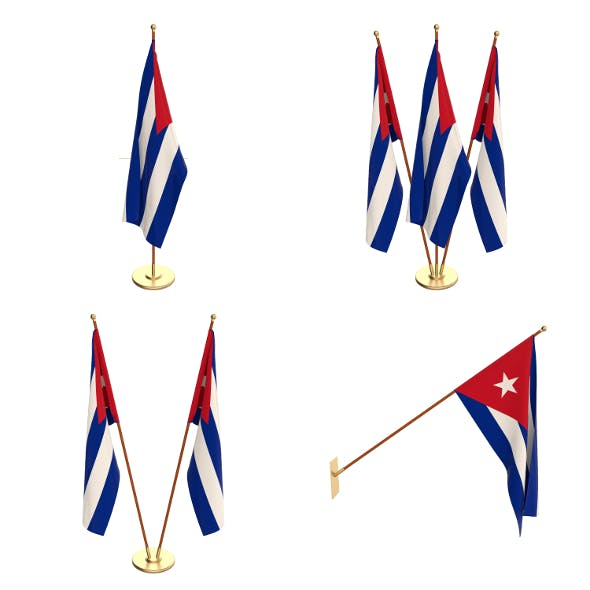 Cuba Flag Pack - 3DOcean Item for Sale