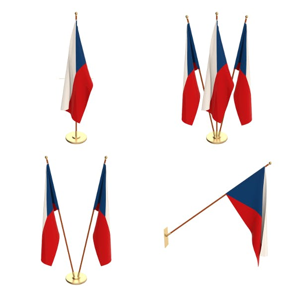 Czech Republic Flag Pack - 3DOcean Item for Sale