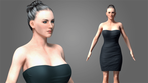 Female Rigged - 3DOcean Item for Sale