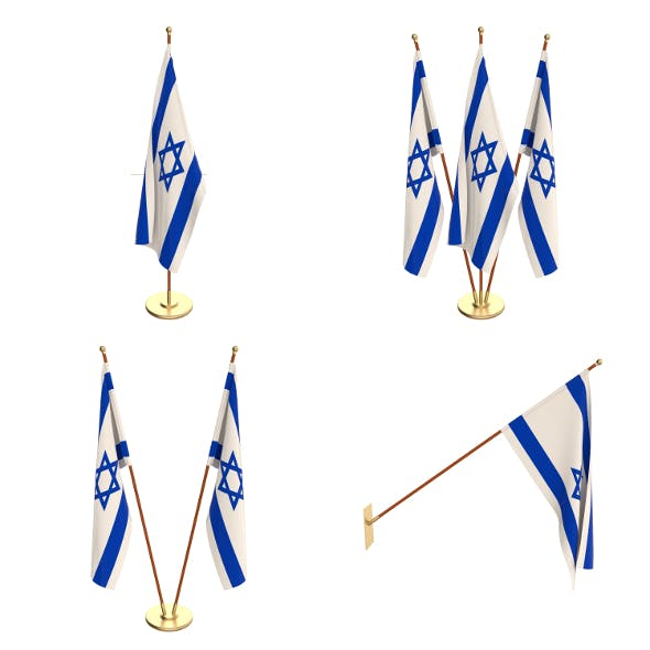 Israel Flag Pack - 3DOcean Item for Sale