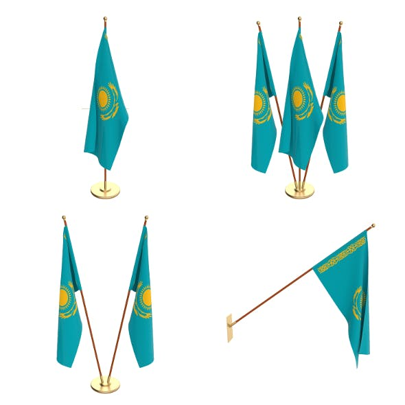 Kazachstan Flag Pack - 3DOcean Item for Sale