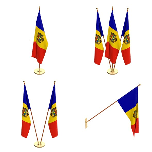 Moldova Flag Pack - 3DOcean Item for Sale