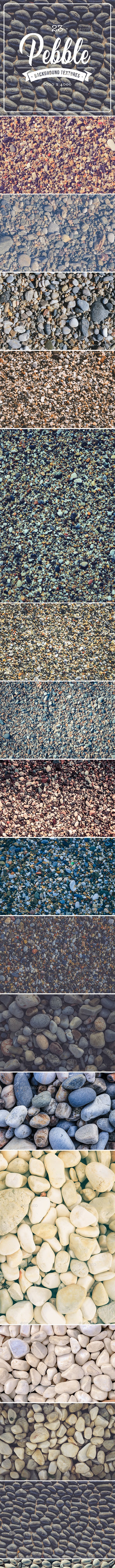 23 Pebble Background Textures - 3DOcean Item for Sale