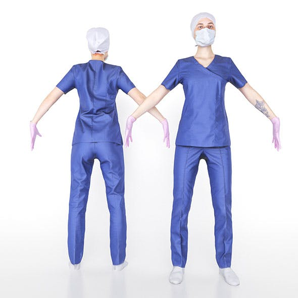 Surgical nurse 03 - 3DOcean Item for Sale