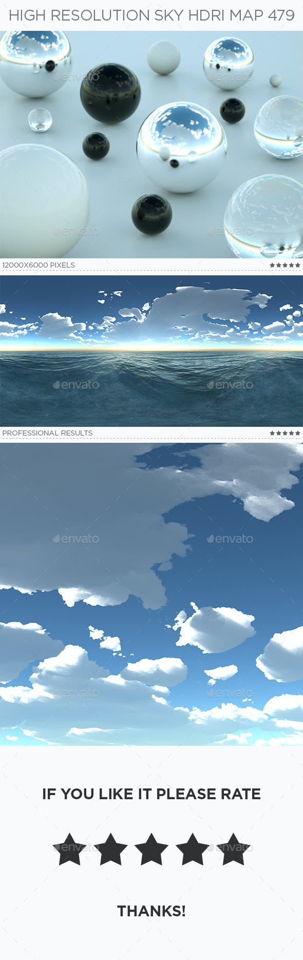 High Resolution Sky HDRi Map 479 - 3DOcean Item for Sale