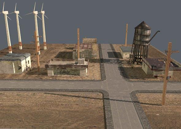 Wasteland low poly landscape - 3DOcean Item for Sale