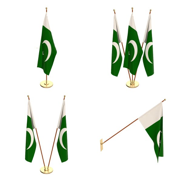 Pakistan Flag Pack - 3DOcean Item for Sale