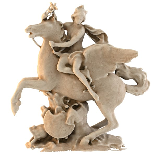 STATUE OF CHEVAL MARLY - 3DOcean Item for Sale