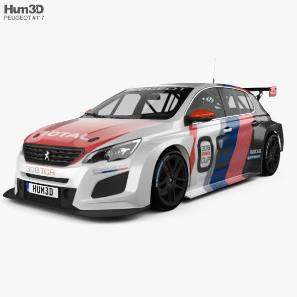 Peugeot 308 TCR 2018 - 3DOcean Item for Sale